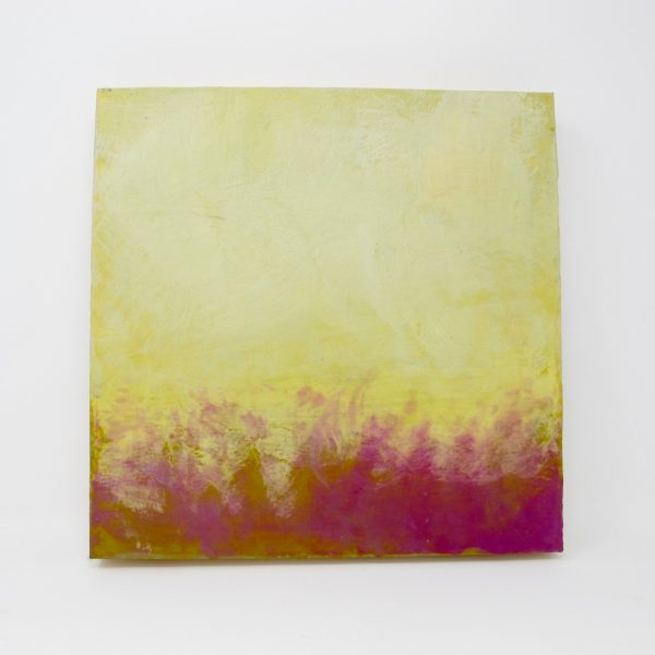 Abstract Yellow Purple Painting - The Phinery