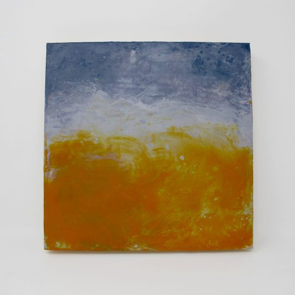 Abstract Orange Blue Painting - The Phinery