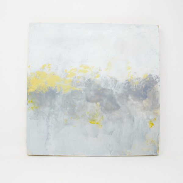 Abstract Encaustic Gray Painting - The Phinery