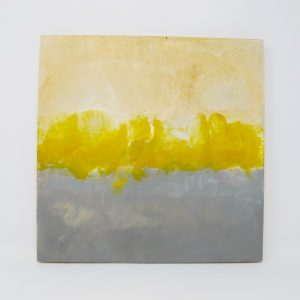 Abstract Yellow Gray Painting - The Phinery