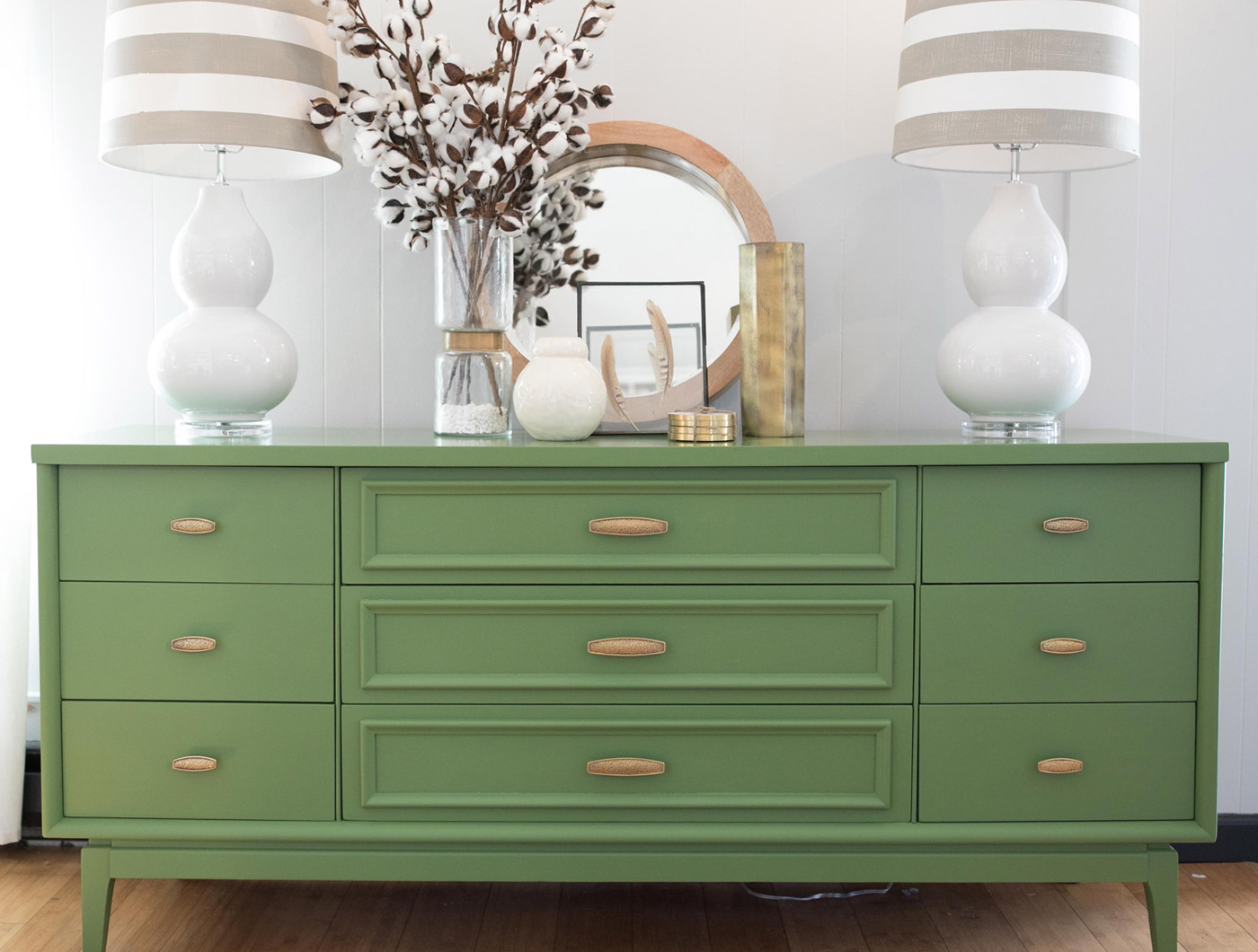 Lime Green Media Console Dresser - The Phinery Furniture Seattle