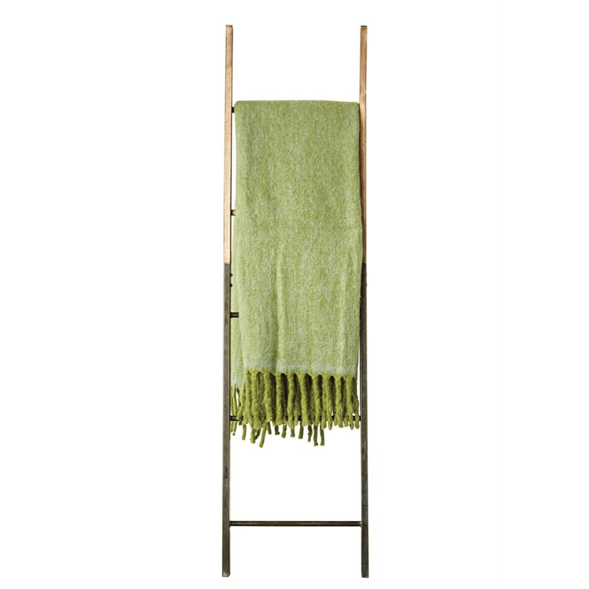 Green Mohair Throw Blanket - The Phinery