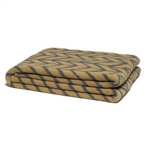 Mustard Yellow and Charcoal Gray Arrow Print Throw Blanket