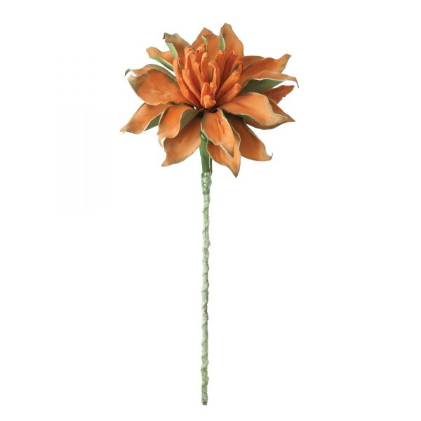Orange and Green Faux Flower