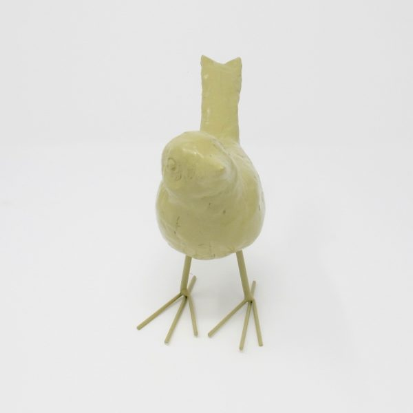 Decorative Taupe Resin Bird - The Phinery