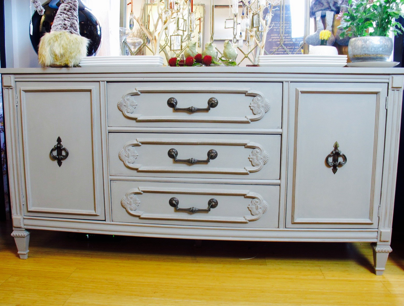 Gray Credenza Buffet - The Phinery Furniture Seattle