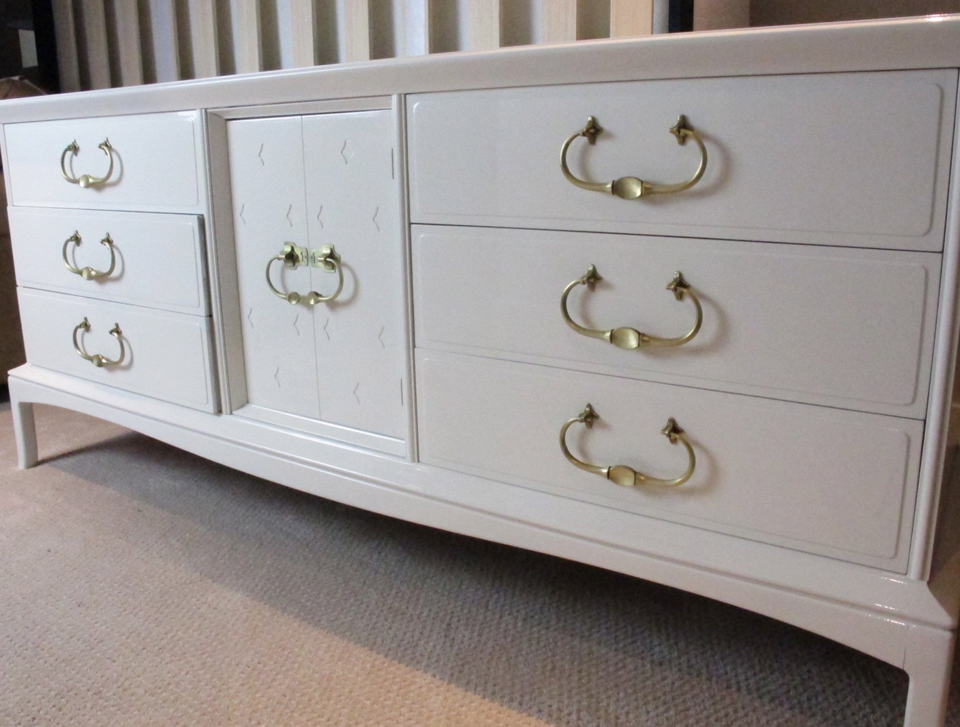 White Glossy Dresser - The Phinery Furniture Seattle