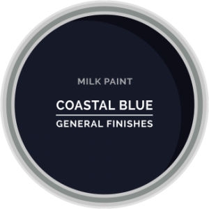 navy coastal blue milk paint for furniture refinishing and diy projects