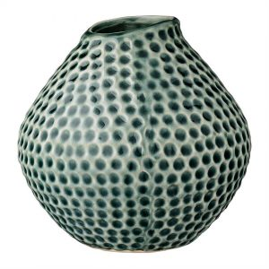 Green dot ceramic flower vase
