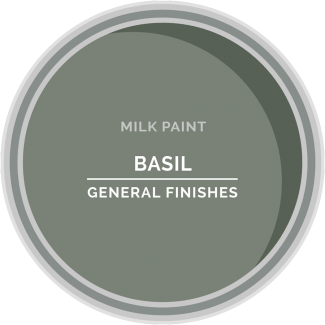 basil green milk paint for furniture refinishing and diy projects