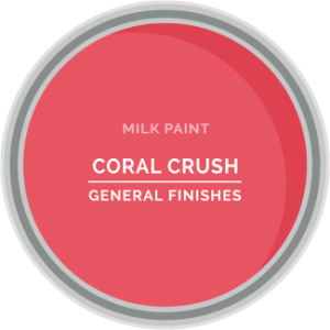 coral crush pink milk paint for furniture refinishing and diy projects