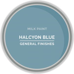 halcyon blue milk paint for furniture refinishing and diy projects