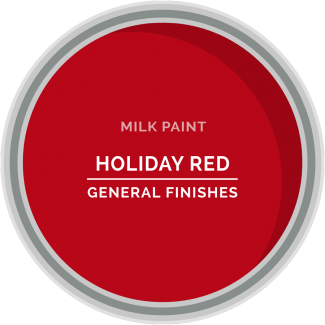 holiday red milk paint for furniture refinishing and diy projects