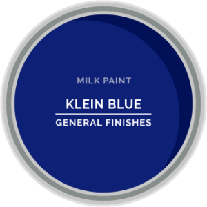 klein blue milk paint for furniture refinishing and diy projects