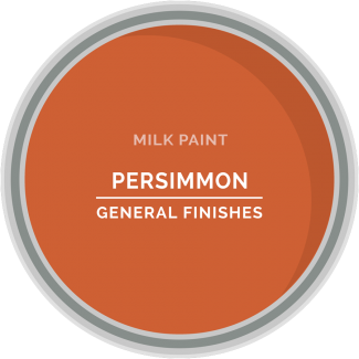 persimmon orange milk paint for furniture refinishing and diy projects