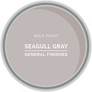 seagull gray milk paint for furniture refinishing and diy projects