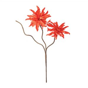 Coral Spray Faux Flower