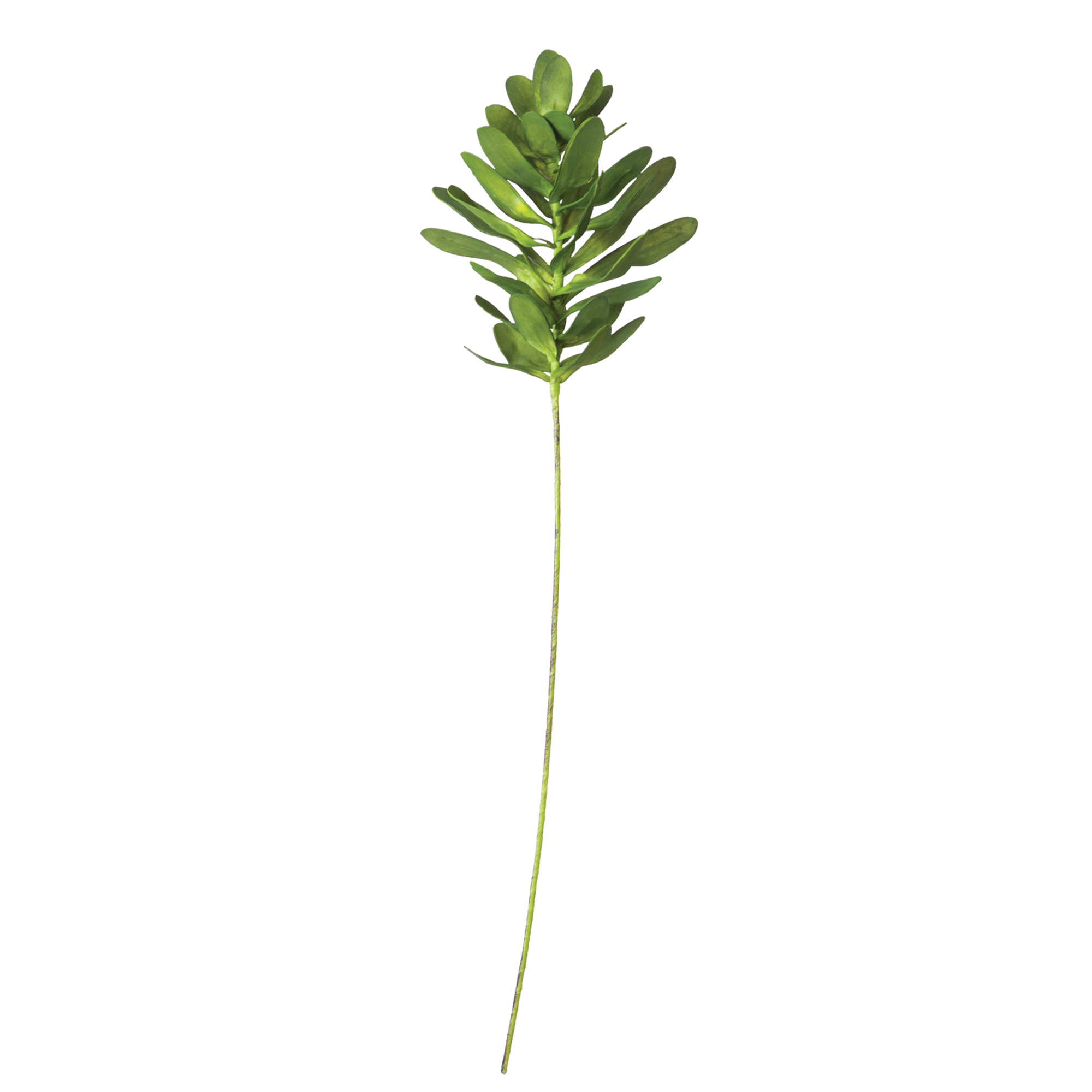 Green Short Leaf Faux Flower branch