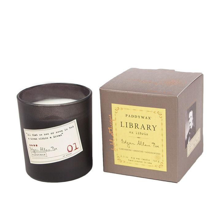 Paddywax Library Scented Candle in Edgar Allan Poe scent