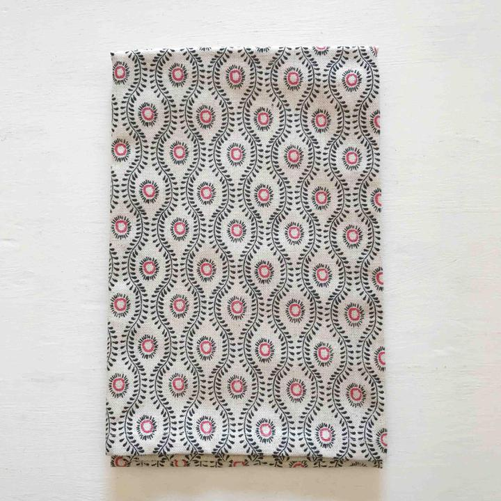 Ogee Print Tea Towel