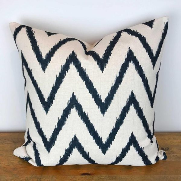 Black and White Chevron Print Pillow