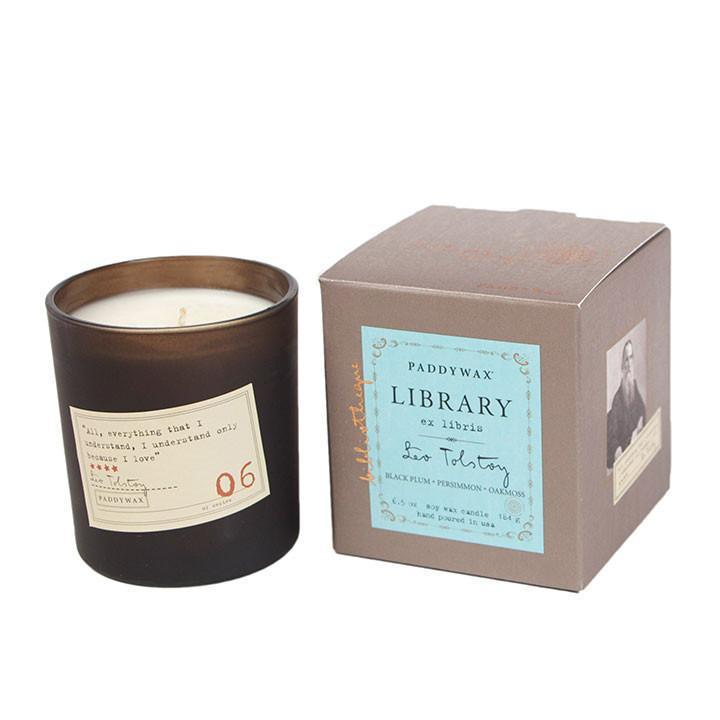 Paddywax Library Scented Candle in Leo Tolstoy scent