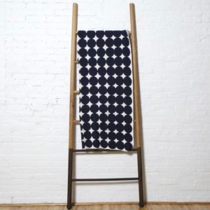 Navy Dots Throw Blanket