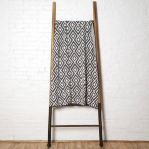 Mod Square Throw Blanket in Smoke Gray