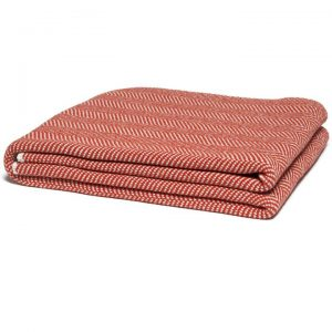 Spice Red Herringbone Throw Blanket