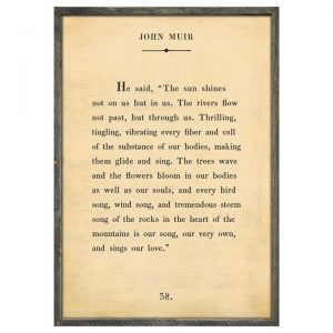 Sugarboo John Muir Quote Art Print