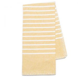Citron yellow organic cotton tea towel