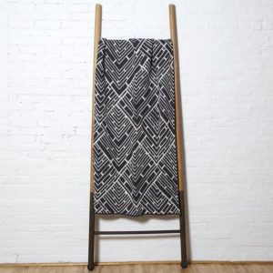Stacy Garcia Trellis Throw Blanket in Milk and Charcoal