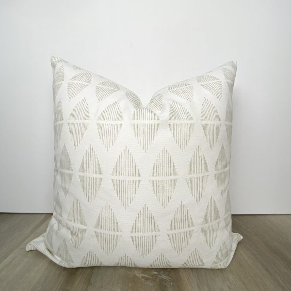 Beige Tan Diamond Decorative Throw Pillow