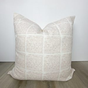 Blush Pink White Mid Century Decorative Throw Pillow