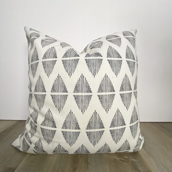 Black and White Diamond Decorative Throw Pillow
