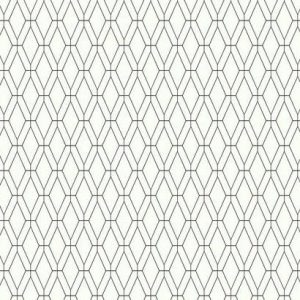 Diamond Lattice Black and White Wallpaper
