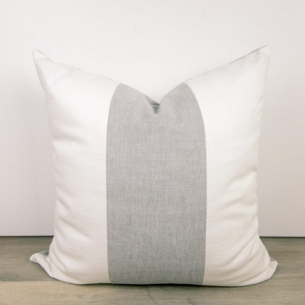 Grey Pillow Color Block Striped Pillow