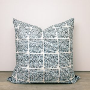Navy Blue White Pillow Cover