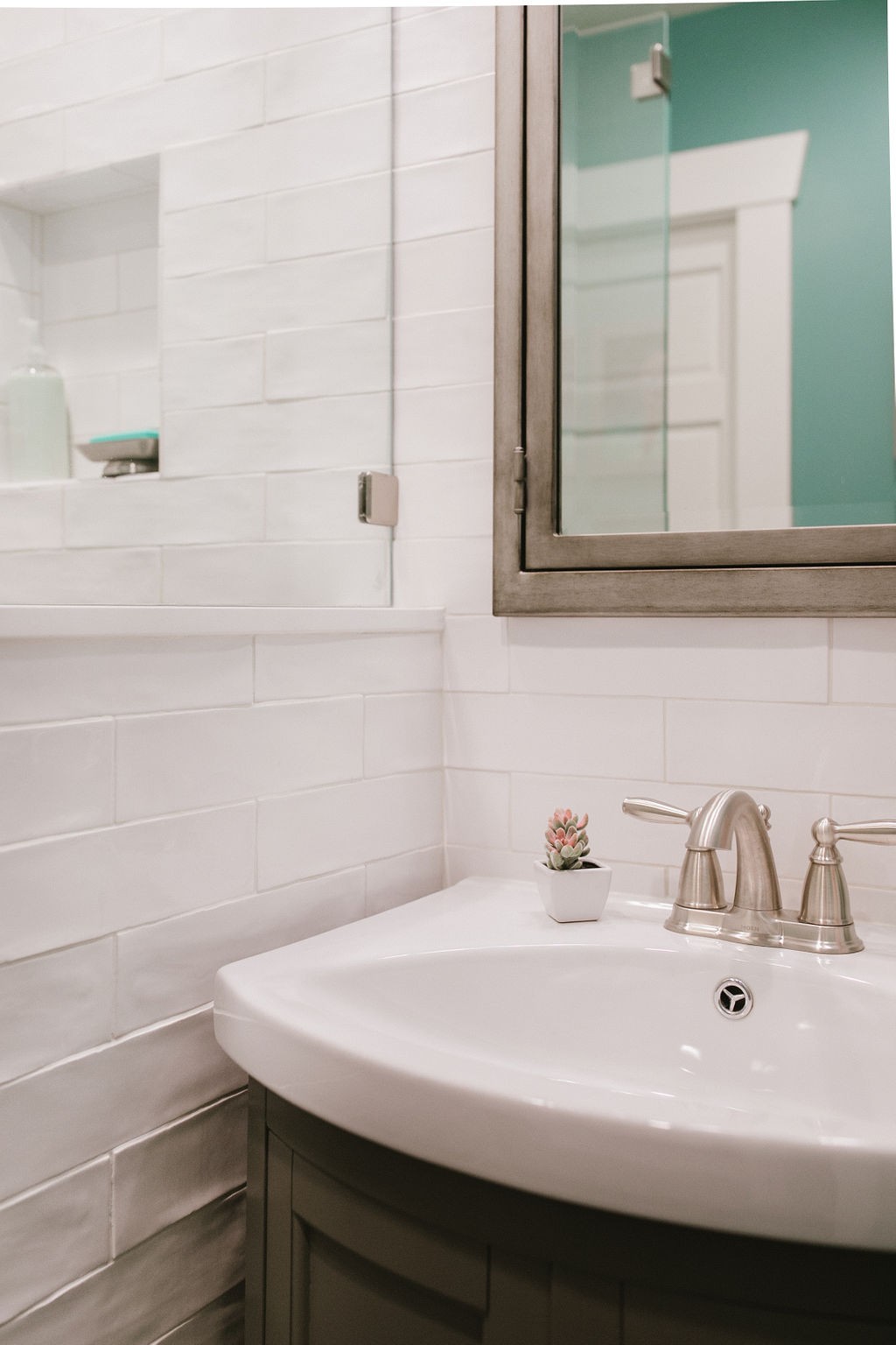 Textured White Glossy Subway Tile