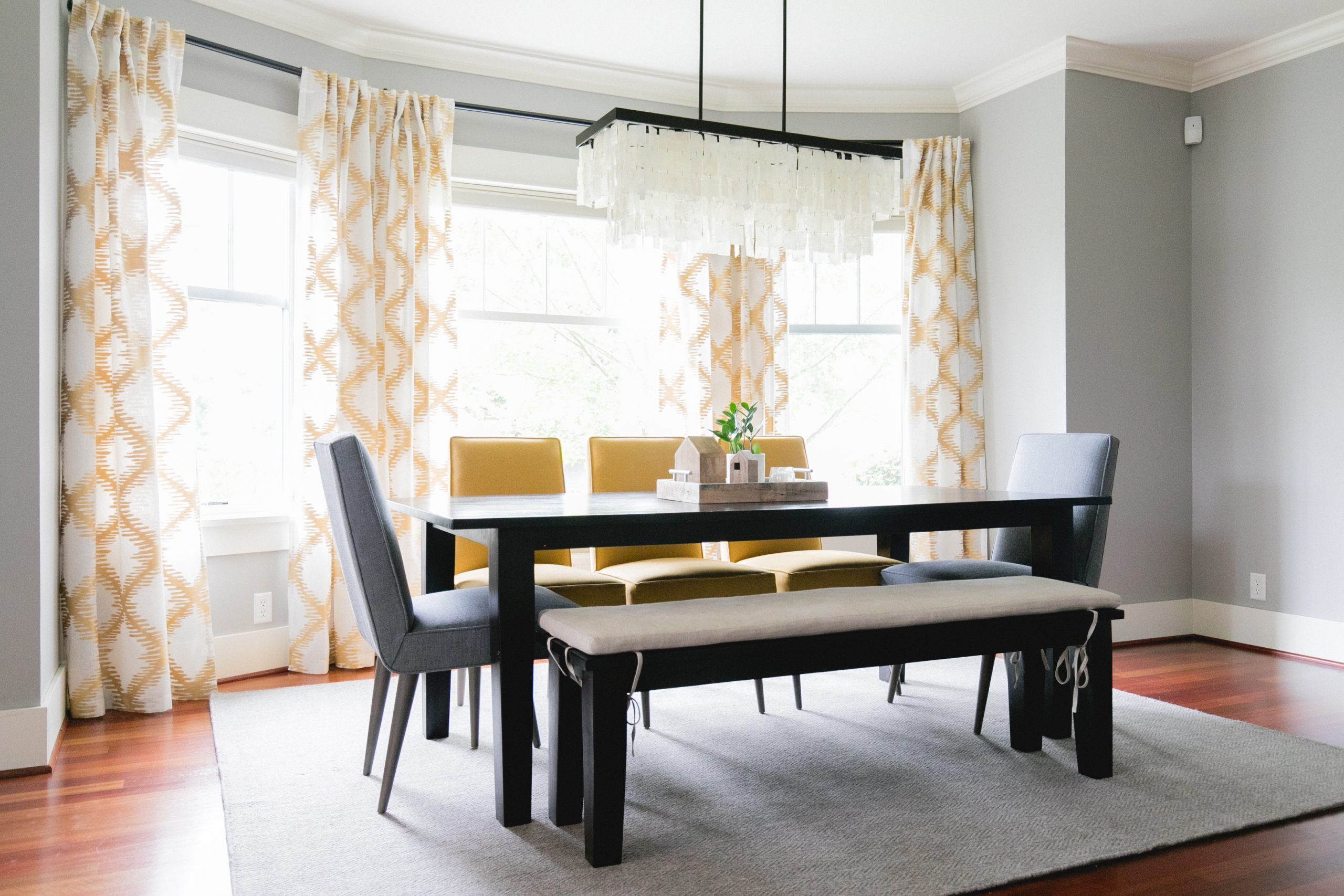 Modern Dining Room with Bay Window