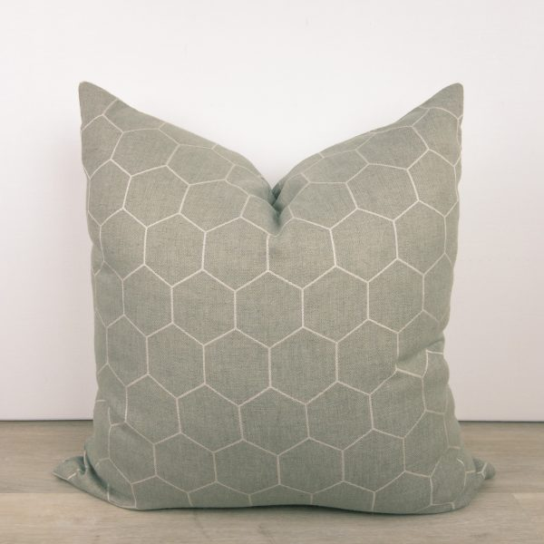 Gray Hexagon Designer Pillow