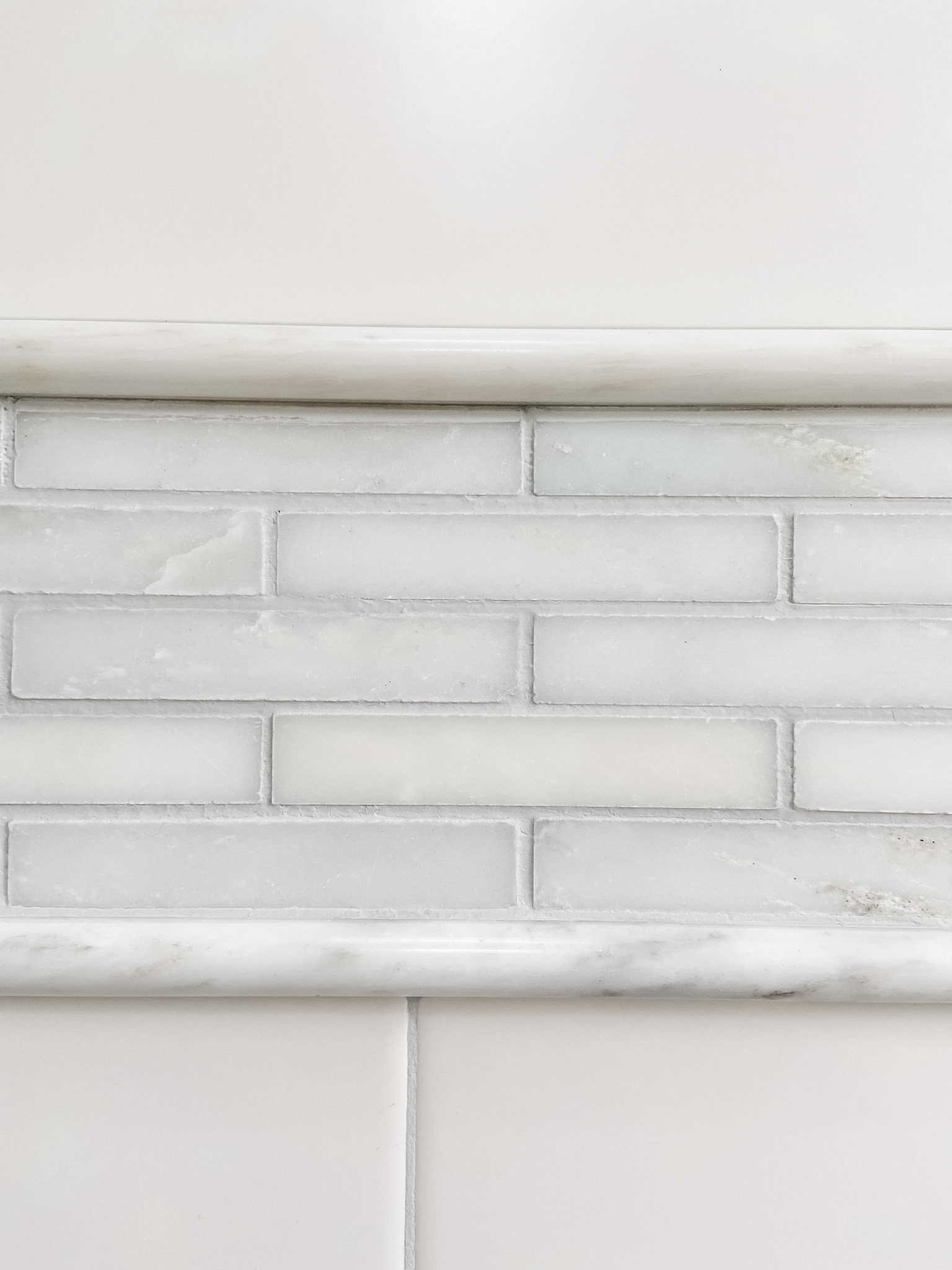 Marble Mini Brick Tile Border Bathroom Walls