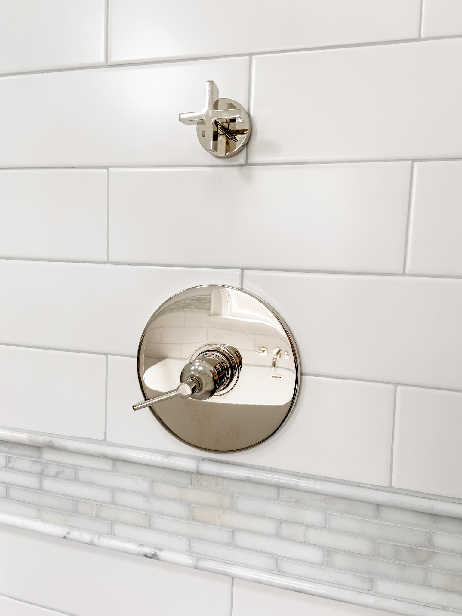 Waterstone Polished Nickel Shower Faucet