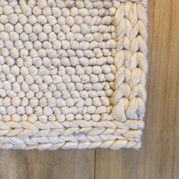 Berkeley Wool Cream Ivory Braided Area Rug