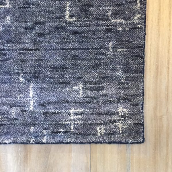 Lennox Navy Viscose Wool Area Rug