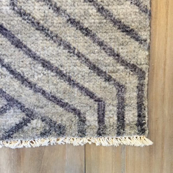 Vivien Gray Viscose Area Rug