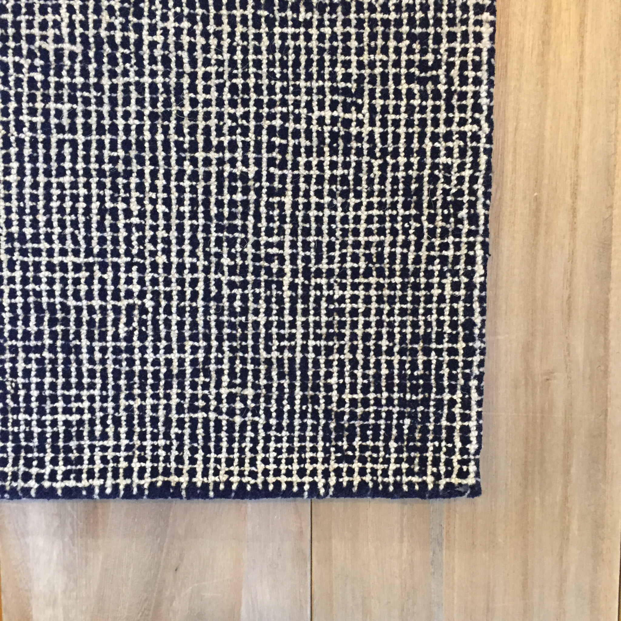Matrix Navy Blue Wool Rug