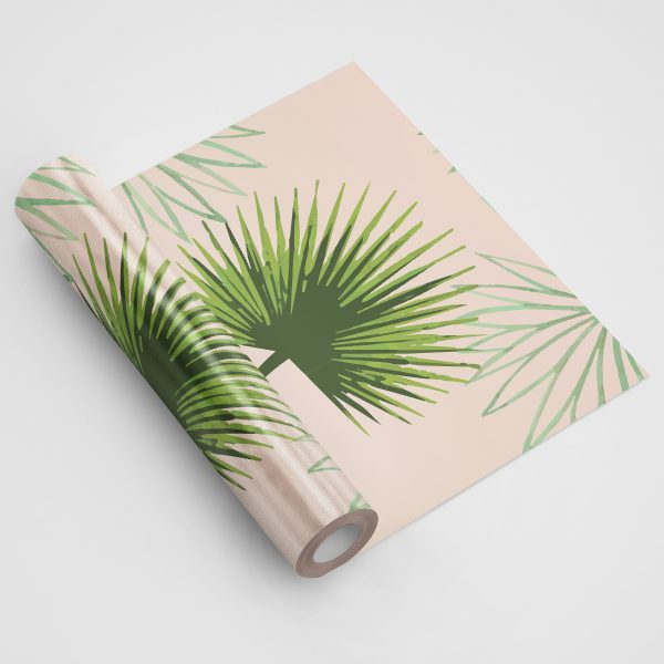 Pink and Green Cabbage Palm Wallpaper