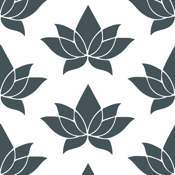 Black and White Print Floral Wallpaper