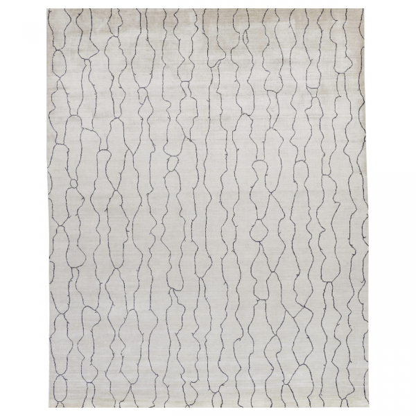 Lennox Ivory Cream Wool Area Rug